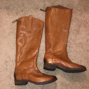 Sam Edelman Tan Leather Riding Boots